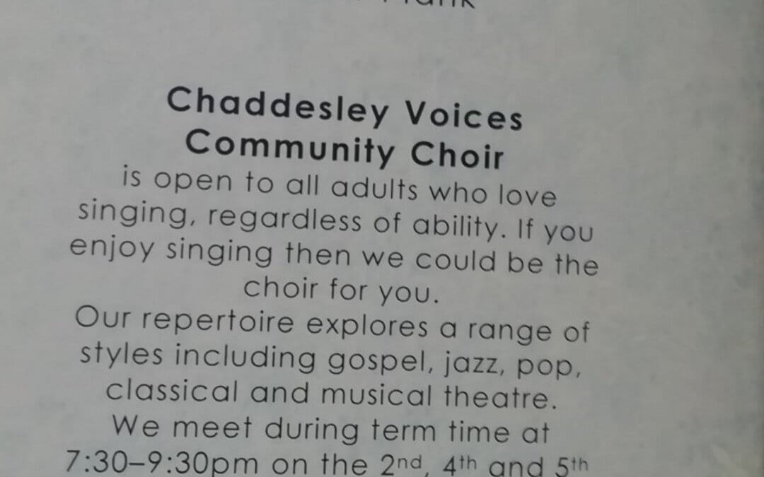 Chaddesley Voices